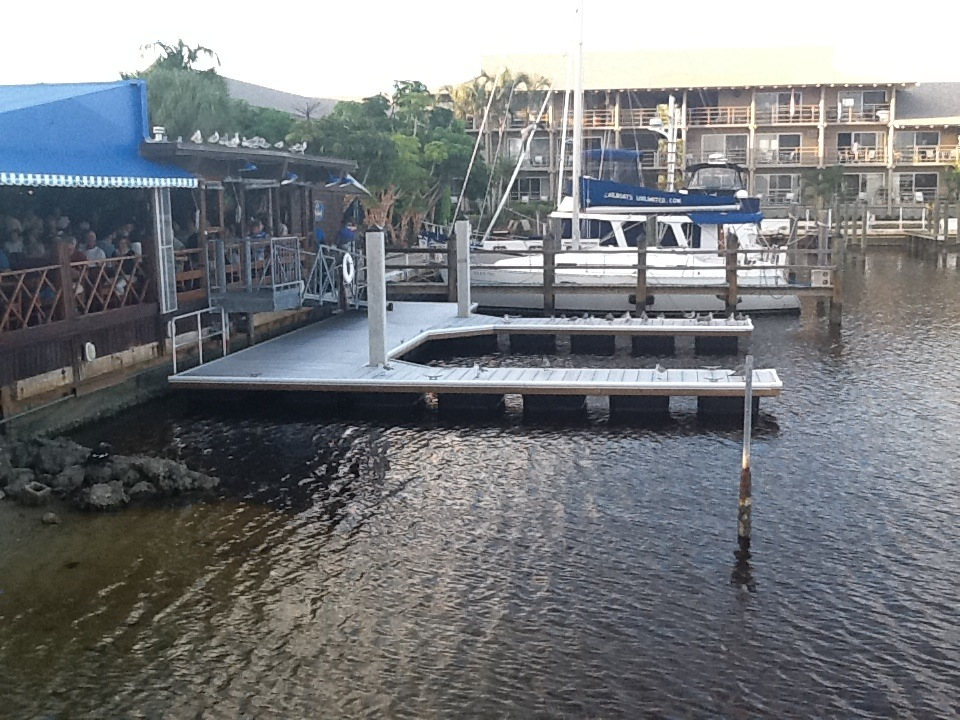how to make concrete floating docks